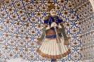 Jaipur,<br />muurschildering in<br />het citypalace