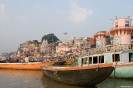 Varanasi, bootje's bij de ghats