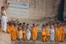Varanasi, ochtendritueel klasje aan de Ganges
