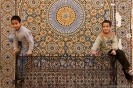 Meknes - Chillen voor het mozaiek
