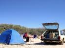 WA - Carnarvon, kamperen in de duinen