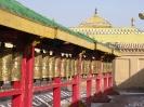 Mongolië - gebedsmolens in een tempel in Ulan Batar