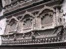 Kathmandu - Houtsnijwerk bij het Durba square