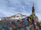 Zhongdian naar Lhasa - Gebedsvlagge op een pas onderweg