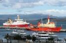 Ushuaia - Expeditie schepen in de haven