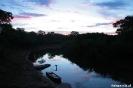 Pantanal - zonsondergang bij het kamp