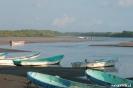Las Penitas, bootjes in lagune