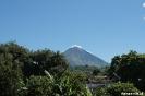 Uitzicht op vulkaan Conception vanuit het hostel